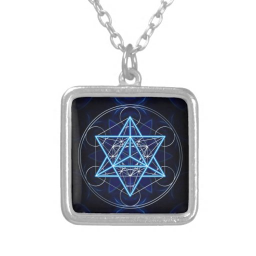 Metatrons cube - Merkaba - star tetrahedron Pendants