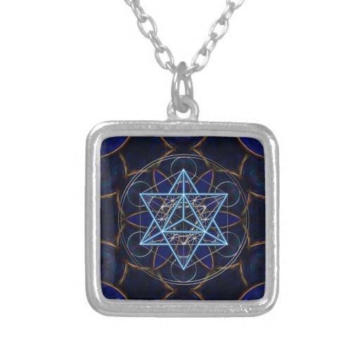 Metatrons cube - Merkaba - star tetrahedron Custom Necklace