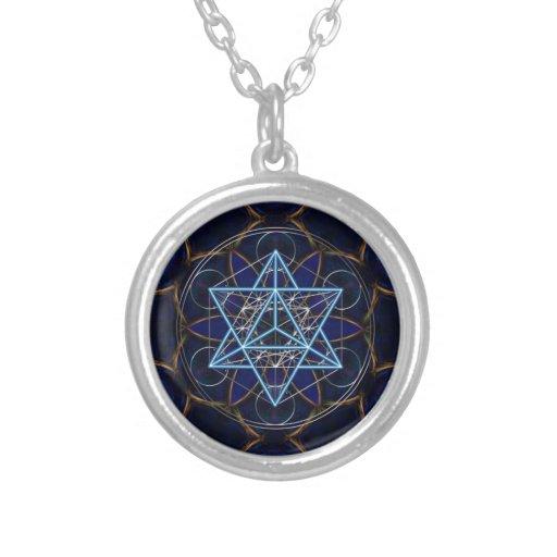 Metatrons cube - Merkaba - star tetrahedron Pendant