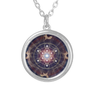 Metatron's Cube - Merkabah Round Pendant Necklace