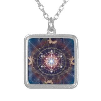 Metatron's Cube - Merkabah Square Pendant Necklace