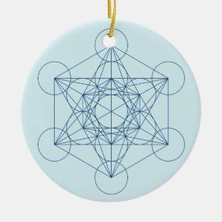 Metatron's Cube Round Ceramic Decoration
