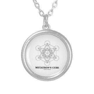 Metatron's Cube (Sacred Geometry) Round Pendant Necklace