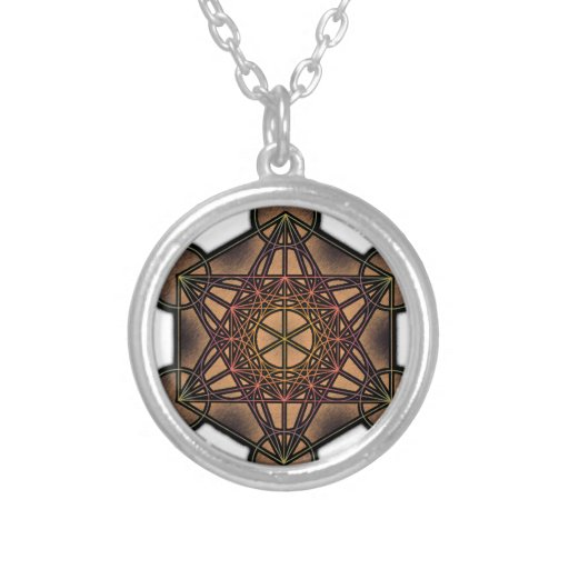 Metatron's Cube - Sacred Geometry Symbol Personalized Necklace