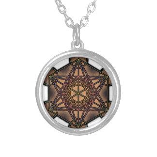Metatron's Cube - Sacred Geometry Symbol Round Pendant Necklace