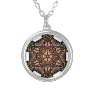 Metatron's Cube - Sacred Geometry Symbol Silver Plated Necklace
