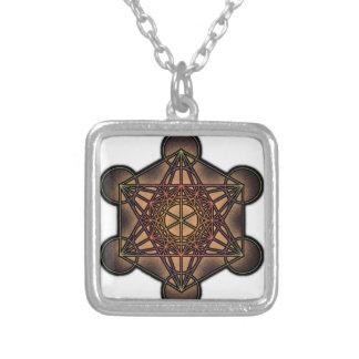 Metatron's Cube - Sacred Geometry Symbol Square Pendant Necklace