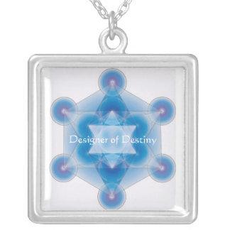 Metatron's Cube Square Pendant Necklace
