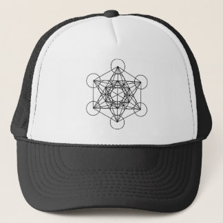 Metatron's Cube (White) Trucker Hat
