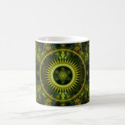 """Metatron's Magick Wheel"" - Fractal Art Mugs"