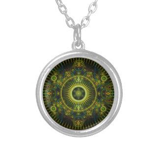 """Metatron's Magick Wheel"" - Fractal Art Round Pendant Necklace"