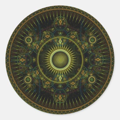 Metatron's Magick Wheel - Fractal Sticker