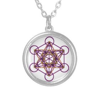 MetatronVStar Round Pendant Necklace