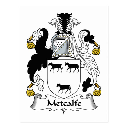 Metcalfe Family Crest Post Cards