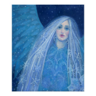 Metelitsa, Snow Maiden, Snowgirl, Snegurochka art Poster