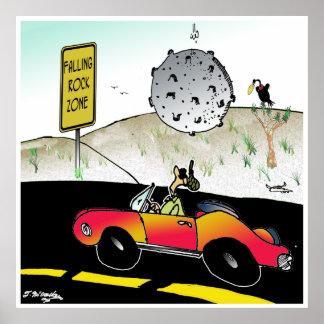 Meteor Cartoon 7970 Poster