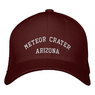 Meteor Crater Embroidered Hats