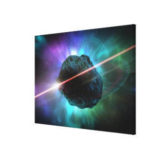 Meteor in Space Stretched Canvas Print