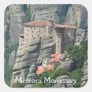 Meteora Monastery 1 Square Sticker