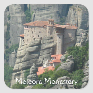 Meteora Monastery 1 Square Sticker