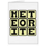 Meteorite, Space Debris Greeting Card