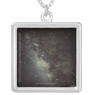 Meteorite Streak Silver Plated Necklace