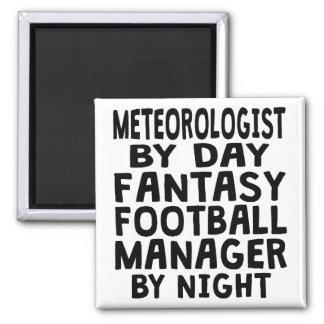 Meteorologist Fantasy Football Manager Square Magnet