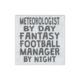 Meteorologist Fantasy Football Manager Stone Magnet