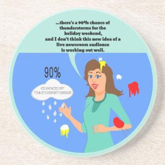 Meteorologist Live Audience Fail Beverage Coasters