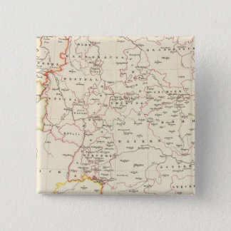 meterological stations throughout Central Europe 15 Cm Square Badge
