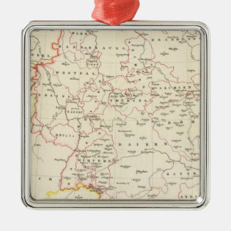meterological stations throughout Central Europe Silver-Colored Square Decoration