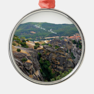 Meterora, Greece landscape Christmas Ornament