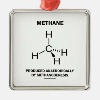 Methane Produced Anaerobically By Methanogenesis Silver-Colored Square Decoration