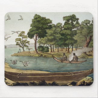 Method of Navigation in New Holland, engraved by F Mouse Mat
