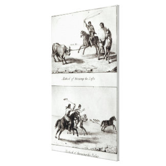 Methods of Throwing the Lasso and the Bolas Canvas Print