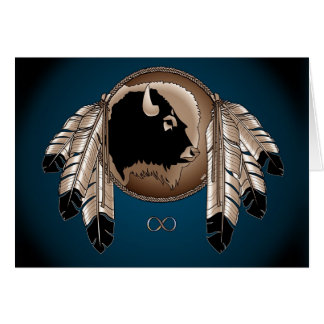 Metis Nation Card First Nations Wildlife Art Card