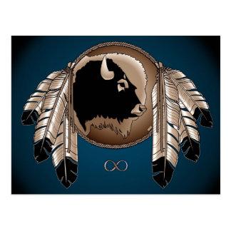 Metis Nation Postcards Buffalo Native Art Cards
