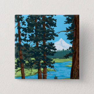 Metolius River Headwaters, Oregon 15 Cm Square Badge