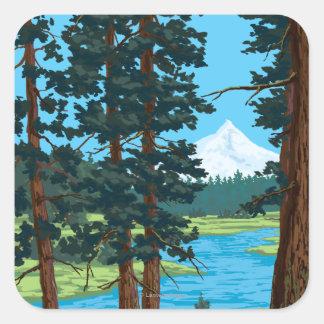 Metolius River Headwaters, Oregon Square Sticker