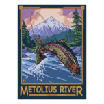 Metolius River, Oregon Fly Fishing Travel Poster