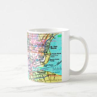 Metro Detroit Map Coffee Mug