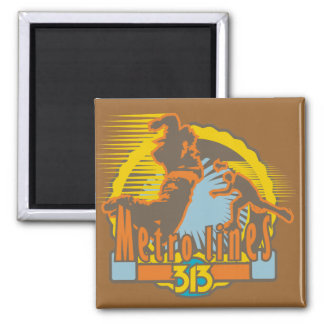 Metro Lines Soccer Tshirts and Gifts Square Magnet
