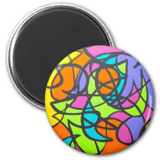Metro Moon - Abstract Art Magnet