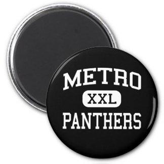 Metro - Panthers - High - Saint Louis Missouri 6 Cm Round Magnet