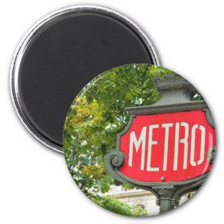 Metro Paris 6 Cm Round Magnet