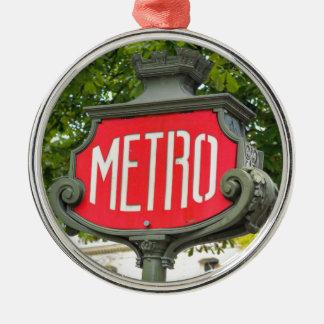Metro Paris Christmas Ornament