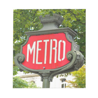 Metro Paris Notepad