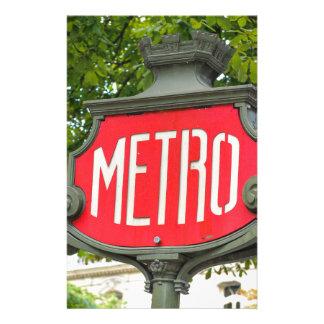 Metro Paris Stationery