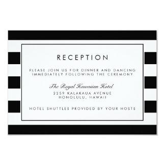 Metro Stripe Reception Card | Black