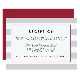 Metro Stripe Reception Card | Cranberry